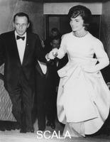 ******** Jacqueline Kennedy (1929-1994) with Frank Sinatra (1915-1998) at President Kennedy's pre-inauguration gala, 19th January 1961.