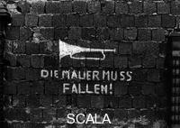 ******** The Wall Must Fall! (Die Mauer muss fallen!): Words on the the Wall on Bernauer Strasse, West Berlin, 1977