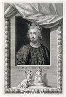 Vertue, George (1684-1756) John, King of England, (18th century). John, (c1166-1216) succeeded his elder brother Richard I (known as 'Richard the Lionheart') as King of England on April 6, 1199. He is best remembered for his power struggle with the barons that led to him being compelled to sign the Magna Carta in 1215.