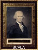 Bouch (19th cent.) Portrait de Thomas Jefferson (1743-1826) president des Etats-Unis de 1801 a 1809