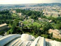 ******** View of the Vatican Gardens from the dome of St. Peter's
