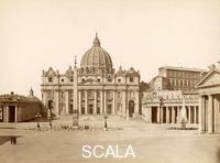 ******** St. Peter's Basilica and St. Peter's Square. Rome. 1890