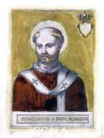 ******** Pope Pontian I. Pontian (died 235 AD) was pope from July 21, 230 AD until September 28, 235 AD.