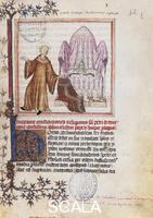 ******** The renunciation of the pontifical throne by Pope Celestine V, miniature, France 14th Century.