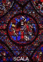 ******** Window no. 38 with stories of Charlemagne, detail: Constantine giving orders for the building of a church