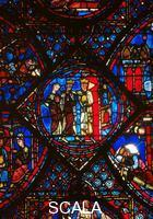 ******** Window no. 38 with stories of Charlemagne, detail: Constantine receiving Charlemagne