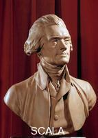 Wille, Pierre Alexandre (1748-1837) Buste de Thomas Jefferson (1742-1826) president des Etats Unis. 18th cent.