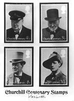******** Stamps to commemorate the centenary of the birth of Sir Winston Churchill, 1974.