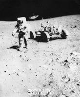 ******** James Irwin (1930-1991) moonwalking during the Apollo 15 mission, 1971.