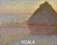 Monet, Claude (1840-1926) Grainstack (Sunset)