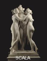 Canova, Antonio (1757-1822) The Three Graces. Rome, Italy, 1814-17