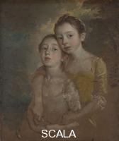 Gainsborough, Thomas (1727-1788) The Painter's Daughters with a Cat, probably about 1760-1