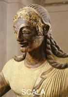 Etruscan art Apollo of Veii - detail (head in profile)