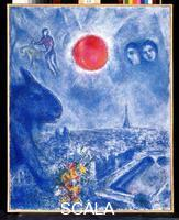 Chagall, Marc (1887-1985) The Sun of Paris, 1975