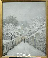 Sisley, Alfred (1839-1899) Snow at Louveciennes