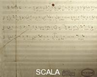 ******** Autograph score the beginning of the chorus should be 'dorate, opera Nabucco by Giuseppe Verdi (1813-1901), 1842