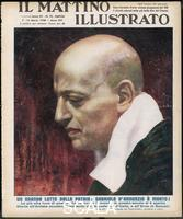 ******** Gabriele d'Annunzio (1863- 1938) (Principe di Montenevoso), Italian poet, journalist, novelist, dramatist, and daredevil. He was part of the decadent and futurist movements in literature, and influenced the development of Italian Fascism. Il Mattino Illustrato 7 March 1938 1938