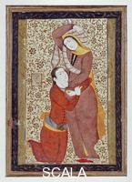 Persian art Miniature with a pair of lovers
