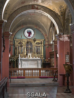 ******** Overall interior with Pre-Raphaelite decoration of the church, opened 1st May 1881. Work of John Roddam Spencer Stanhope, George Frederick Bodley under the influence of William Morris