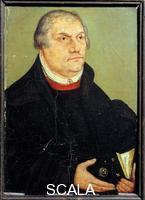 Cranach, Lucas the Younger (1515-1586) Portrait of Martin Luther