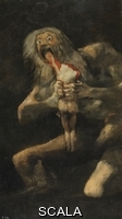 Goya, Francisco de (1746-1828) Saturn devouring one of his sons, 1821-1823