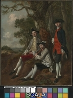 Gainsborough, Thomas (1727-1788) Peter Darnell Muilman, Charles Crokatt and William Keable in a Landscape, c.1750