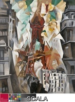 Delaunay, Robert (1885-1941) Champs de Mars: The Red Tower, 1911/23. Oil on canvas, 63 1/4 x 50 5/8 in. (160.7 x 128.6 cm). Joseph Winterbotham Collection, 1959.1.