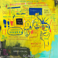 Basquiat, Jean-Michel (1960-1988) Hollywood Africans. 1983. Acrylic and oil stick on canvas. Overall: 84 1/16 × 84in. (213.5 × 213.4 cm). Gift of Douglas S. Cramer. Inv. N.: 84.23