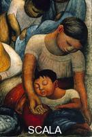 Rivera, Diego (1886-1957) Sleep - The Night of the Poor (La Noche de los Pobres) - d. (Mother and Child sleeping)