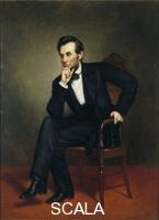 Healy, George Peter Alexander (1813-1894) Portrait of Abraham Lincoln, 1887