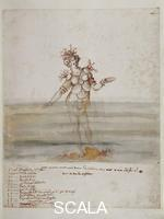 Buontalenti, Bernardo (1536-1608) Designs for the costumes of 'La Pellegrina,' 1589: sea nymph