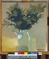 ******** Porter, Fairfield (1907-1975). Bowl Of Goldenrod. Fairfield Porter (1907-1975). Casein on canvas. Painted in 1962.