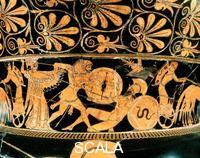 Berlin Painter (6th-5th cent. BCE) Krater - detail (Hercules fighting Cicnus)