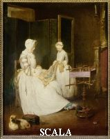Chardin, Jean Baptiste Simeon (1699-1779) Mother and Daughter