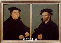 Cranach, Lucas the Elder (1472-1553) Lucas Cranach lAncien (1472-1553); Portrait de Luther et Philippe Melanchton; Galerie des Offices; Florence
