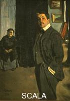 Bakst, Leon (1866-1924) Portrait of Diaghilev with His Elderly Nurse