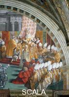 Raphael (1483-1520), school Coronation of Charlemagne: right-hand part