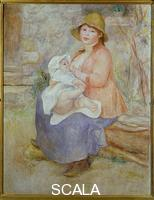 Renoir, Pierre Auguste (1841-1919) Madame Renoir with his pupil Pierre