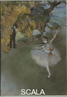 Degas, Edgar (1834-1917) Scene of dance or l'etoile. 1876-77
