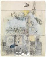 Rauschenberg, Robert (1925-2008) Canto II: The Descent, from the series 'Thirty-Four Illustrations for Dante's Inferno, (1958)