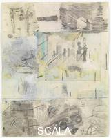 Rauschenberg, Robert (1925-2008) Canto IV: Limbo, Circle One, The Virtuous Pagans, from the series 'Thirty-Four Illustrations for Dante's Inferno, (1958)