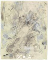 Rauschenberg, Robert (1925-2008) Canto VI: Circle Three, The Gluttons, from the series 'Thirty-Four Illustrations for Dante's Inferno, (1958)