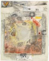 Rauschenberg, Robert (1925-2008) Canto VIII: Circle Five, The Styx, The Wrathful; Circle Six, Dis, Capital of Hell, The Fallen Angels , from the series 'Thirty-Four Illustrations for Dante's Inferno, (1959-60)