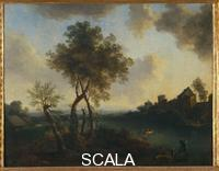 Brand, Christian Hilfgott (1695-1756) Landscape with river and people