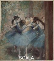 Degas, Edgar (1834-1917) Ballerinas in Blue