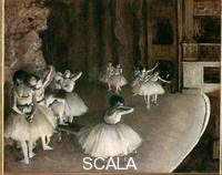 Degas, Edgar (1834-1917) Ballet Rehearsal on Stage, 1874