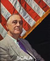 ******** Franklin Delano Roosevelt (1882-1945), 32nd President of the USA 1932-1945, c.1943.
