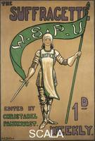 Dallas, Hilda (fl. 1912-1918) Poster advertising the Suffragette newspaper,  1912