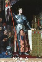 Ingres, Jean Auguste Dominique (1780-1867) Joan of Arc at the Coronation of Charles VII in the Cathedral at Reims, 1800-67
