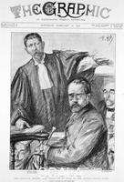 ******** Trial of Emile Zola, French author (from 'The Graphic', London, 12th February 1898)